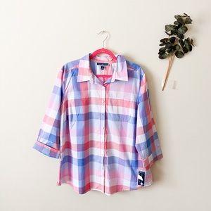 NWT Charter Club Plus Size Linen Shirt 1X
